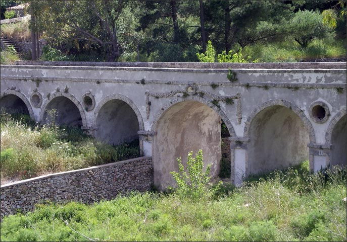 Stone bridge at Potamos (built by John MacPhail)