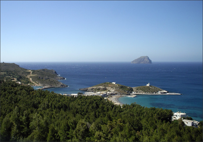 Looking over Kapsali to Avgo Islet