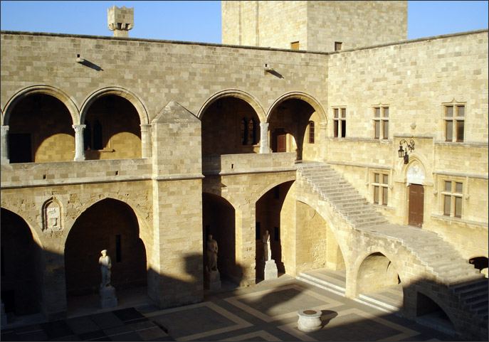 Courtyard of the Palace of the Knights' Hospital